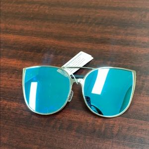 Silver and Blue Sunglasses